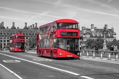 Κόκκινο διπλό κατάστρωμα στο Λονδίνο στοκ εικόνες