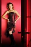 κόκκινο δωμάτιο κοριτσιώ&n Στοκ εικόνες με δικαίωμα ελεύθερης χρήσης