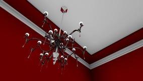 Κόκκινο δωμάτιο πολυελαίων Στοκ εικόνα με δικαίωμα ελεύθερης χρήσης