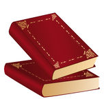 κόκκινο δύο βιβλίων Στοκ Εικόνες