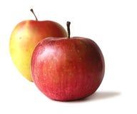 κόκκινο δύο μήλων Στοκ Εικόνες
