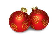κόκκινο δύο Χριστουγέννω στοκ εικόνες