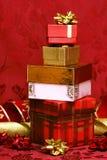 κόκκινο δώρων κιβωτίων ανα& Στοκ Εικόνα