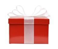 κόκκινο δώρων κιβωτίων Στοκ φωτογραφία με δικαίωμα ελεύθερης χρήσης