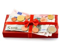 κόκκινο δώρων κιβωτίων Στοκ εικόνα με δικαίωμα ελεύθερης χρήσης