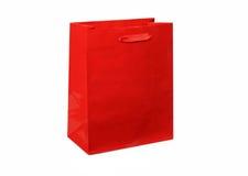 κόκκινο δώρων τσαντών Στοκ Φωτογραφία