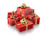 κόκκινο δώρων Στοκ Εικόνα