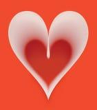 κόκκινο εγγράφου καρδιών Στοκ Εικόνες