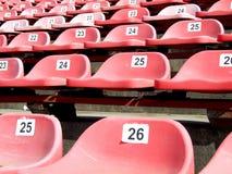 κόκκινο εδρών Στοκ εικόνες με δικαίωμα ελεύθερης χρήσης