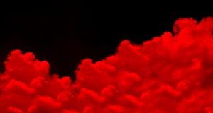 Κόκκινο ειδικό εφέ ομίχλης ή καπνού κόκκινο cloudiness, υδρονέφωσης ή αιθαλομίχλης υπόβαθρο στοκ εικόνες