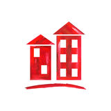 Κόκκινο εικονίδιο σπιτιών Στοκ εικόνες με δικαίωμα ελεύθερης χρήσης