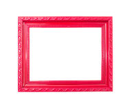 Κόκκινο εκλεκτής ποιότητας πλαίσιο εικόνων στην άσπρη ανασκόπηση Στοκ Φωτογραφία