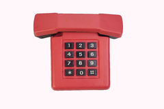 Κόκκινο εκλεκτής ποιότητας τηλέφωνο Στοκ εικόνες με δικαίωμα ελεύθερης χρήσης