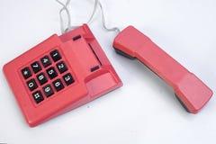 Κόκκινο εκλεκτής ποιότητας τηλέφωνο Στοκ φωτογραφίες με δικαίωμα ελεύθερης χρήσης