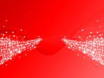 κόκκινο ελαφριών ακτίνων ελεύθερη απεικόνιση δικαιώματος