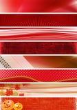 κόκκινο εμβλημάτων Στοκ φωτογραφία με δικαίωμα ελεύθερης χρήσης
