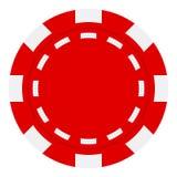Κόκκινο επίπεδο εικονίδιο τσιπ πόκερ που απομονώνεται στο λευκό ελεύθερη απεικόνιση δικαιώματος