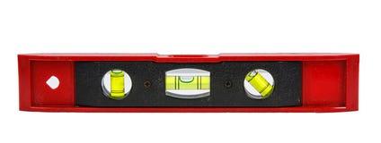 Κόκκινο επίπεδο φραγμών με τη φυσαλίδα στο λευκό Στοκ Εικόνα