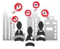 Κόκκινο επιχειρησιακό εικονίδιο Στοκ εικόνες με δικαίωμα ελεύθερης χρήσης