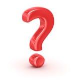 Κόκκινο ερωτηματικό Στοκ εικόνες με δικαίωμα ελεύθερης χρήσης