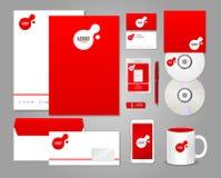 Κόκκινο εταιρικό πρότυπο ταυτότητας Στοκ Εικόνα