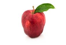 κόκκινο λευκό ανασκόπησης μήλων Στοκ Φωτογραφίες