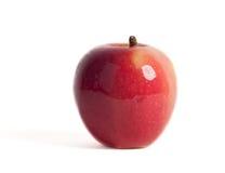 κόκκινο λευκό ανασκόπησης μήλων Στοκ Εικόνες