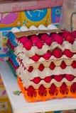 κόκκινο λευκό αυγών Αγορά στην οδό Μανίλα Φιλιππίνες Στοκ φωτογραφία με δικαίωμα ελεύθερης χρήσης