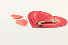 κόκκινο λευκό καρδιών ανασκόπησης Στοκ Εικόνα