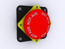 κόκκινο λευκό κουμπιών ανασκόπησης συναγερμών Στοκ φωτογραφία με δικαίωμα ελεύθερης χρήσης