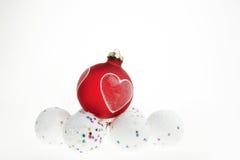 κόκκινο λευκό Χριστουγ Στοκ Εικόνες