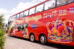 Κόκκινο λεωφορείο επίσκεψης στην Κοπεγχάγη Στοκ φωτογραφίες με δικαίωμα ελεύθερης χρήσης