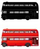 Κόκκινο λεωφορείο καταστρωμάτων του Λονδίνου διπλό, διανυσματική απεικόνιση Στοκ Φωτογραφίες
