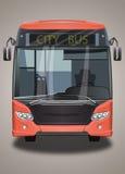 Κόκκινο λεωφορείο πόλεων Στοκ εικόνες με δικαίωμα ελεύθερης χρήσης