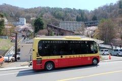 Κόκκινο λεωφορείων omni Kawguchigo Στοκ Φωτογραφία