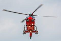 Κόκκινο ελικόπτερο στοκ εικόνες