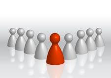 κόκκινο ηγεσίας επιχειρησιακής έννοιας Στοκ Εικόνα
