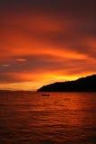 κόκκινο ηλιοβασίλεμα στοκ εικόνες
