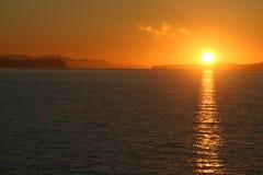 κόκκινο ηλιοβασίλεμα στοκ εικόνα
