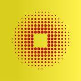 Κόκκινο ημίτονο υπόβαθρο κύκλων, ημίτονο σχέδιο σημείων Στοκ εικόνες με δικαίωμα ελεύθερης χρήσης
