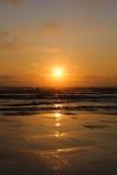 Κόκκινο ηλιοβασίλεμα επιφυλακής ακρωτηρίων στοκ εικόνες