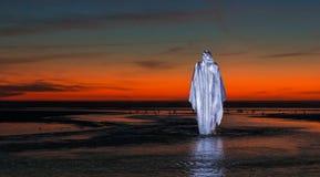 Κόκκινο ηλιοβασίλεμα Ιησούς Χριστός στοκ φωτογραφία