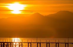 Κόκκινο ηλιοβασίλεμα σε Antalya. στοκ φωτογραφίες