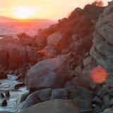 Κόκκινο ηλιοβασίλεμα δύο στοκ φωτογραφία με δικαίωμα ελεύθερης χρήσης
