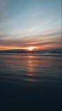 κόκκινο ηλιοβασίλεμα Στοκ Φωτογραφία
