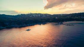 Κόκκινο ηλιοβασίλεμα Blanes 2 Στοκ Εικόνες