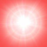 Κόκκινο ηλιόλουστο υπόβαθρο Στοκ Εικόνες