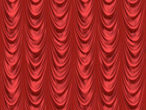 κόκκινο θέατρο κουρτινών κινηματογράφων Στοκ εικόνα με δικαίωμα ελεύθερης χρήσης