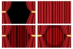 κόκκινο θέατρο κουρτινών Στοκ Φωτογραφίες