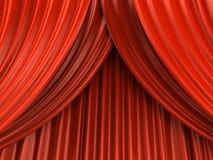 κόκκινο θέατρο κουρτινών Στοκ Εικόνα